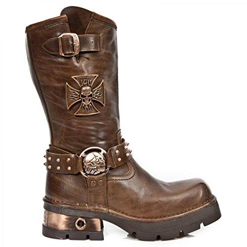 New Rock Boots M.1612-s1 Urban Biker Herren Stiefel Braun