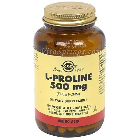 Solgar - Magnesio libre de la forma 500 del L-Proline. - 100 cápsulas vegetarianas: Amazon.es: Salud y cuidado personal
