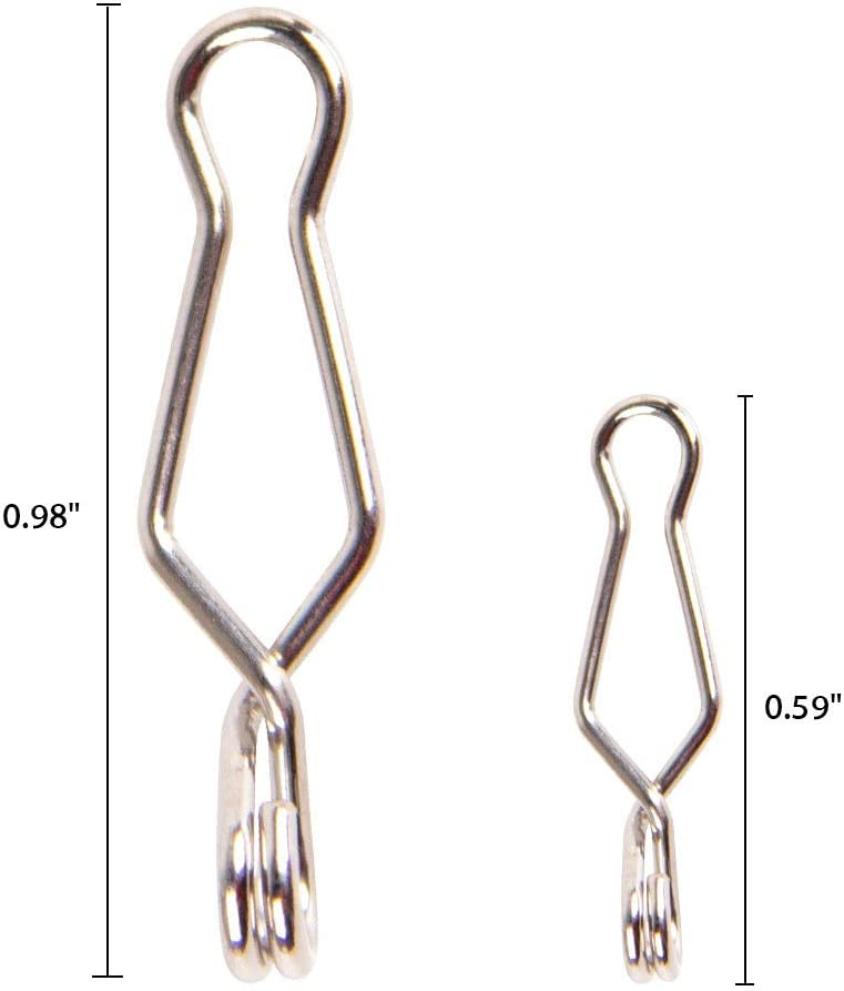 Dr.Fish 20PCs Fishing Speed Clips High Strength Stainless Steel Quick Change Fishing Snap Saltwater
