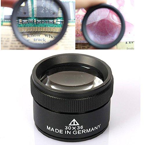 Bonayuanda 30x36mm Jeweler Optics Loupes Magnifier Loop Microscope Magnifying Glass (30 X Loupe)