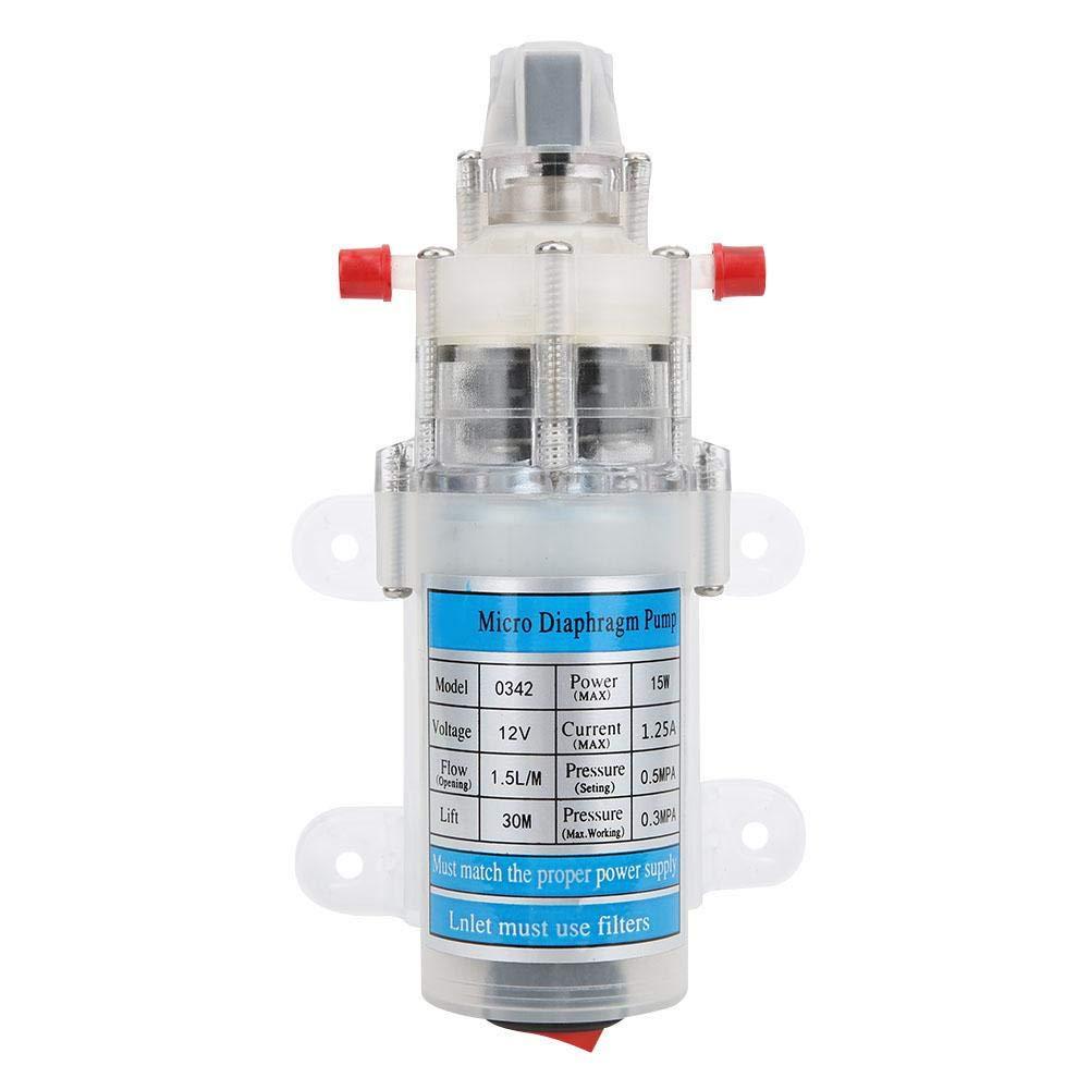 Water Pump, Miniature Diaphragm Pump Water Pump 12V 15W Mute Water Pump in Food Quality Self-Priming DC Micro Diaphragm Pump DC Diaphragm Water Pump