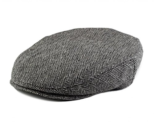 Satin Tweed Cap - Born to Love Boy's Tweed Page Boy Flat Scally Cap Newsboy Baby Kids Driver Cap-(XS 49 cm)