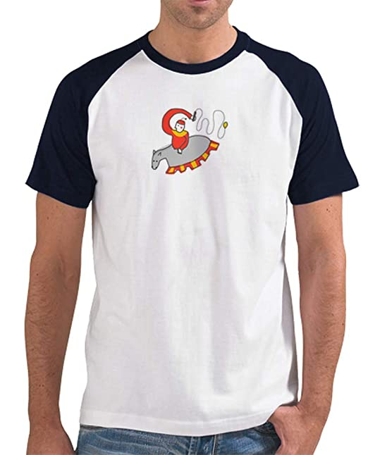 latostadora - Camiseta Zaldiko-maldiko para Hombre Azul Marino S