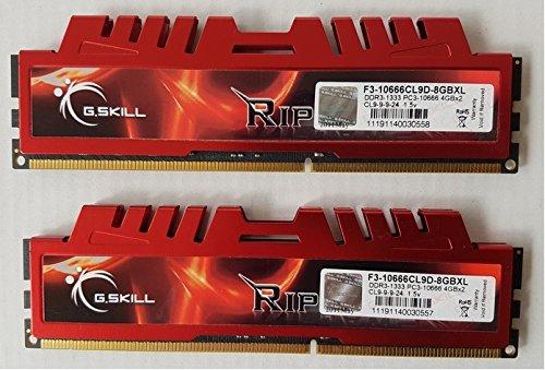 (G.SKILL 8GB (2 x 4GB) Ripjaws X Series DDR3 1333MHz (PC3-10666) 240-Pin. Desktop Memory F3-10666CL9D-8GBXL )