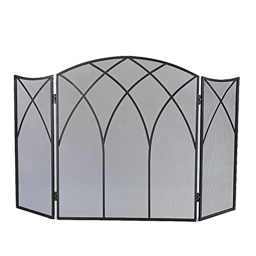 Fantastic Deal! Pleasant Hearth Gothic Fireplace Screen