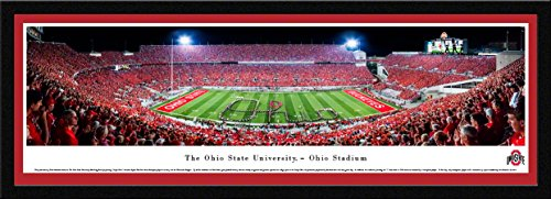 Ohio State Football - Band Script - Blakeway Panoramas College Sports Posters with Select Frame
