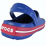 Crocs Crocband Clog, Cerulean Blue/Pepper, Men's 11