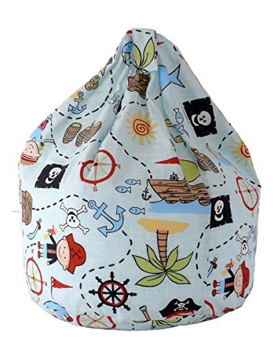 Cotton Blue Pirate Island Bean Bag Large Size BeanLazy