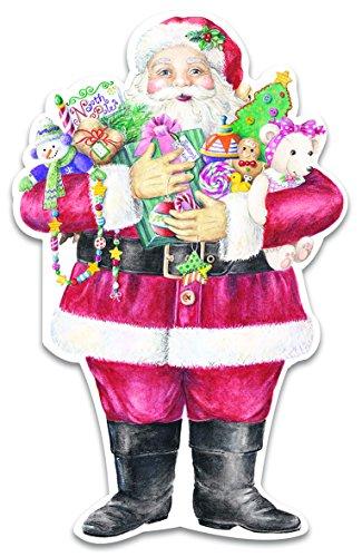 Carol Wilson Fine Arts Inc -Boxed Santa Christmas Cards- 120 count- crgbx119x12