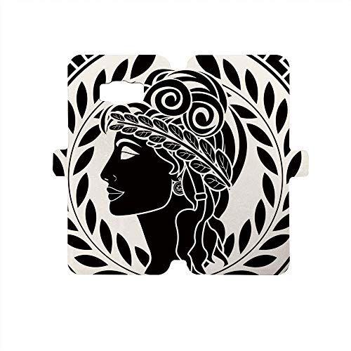 - Painted Galaxy S8 Case - Premium Protective Cover Phone Cases for Girls,Toga Party,Roman Elegance Beauty Muse Portrait Patrician Woman Old Fashion Aesthetic Icon,Black White