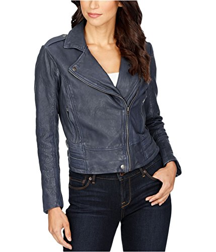 Lucky Brand Women's Major Moto Jacket, American Navy, Medium by Lucky Brand