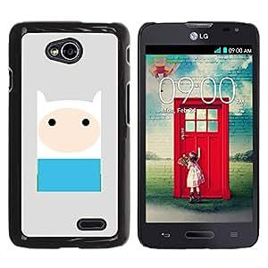 Be Good Phone Accessory // Dura Cáscara cubierta Protectora Caso Carcasa Funda de Protección para LG Optimus L70 / LS620 / D325 / MS323 // comic character blue grey cute sweet