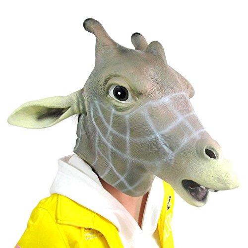 [Fantasy Latex Giraffe Mask] (Fantasy Themed Costume)
