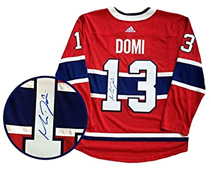 competitive price c0b1d a35b9 Max Domi Autographed Jersey - Frameworth Pro Red 2018 2019 ...