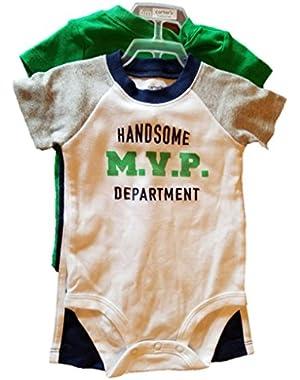 Carter's Handsome MVP 3 Piece Bodysuit Set - Baby Boy