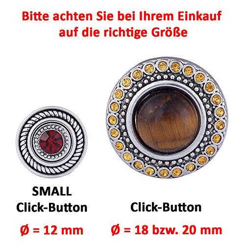 Morella ® pour petit click-button ø 12 mm en forme d'étoile doré