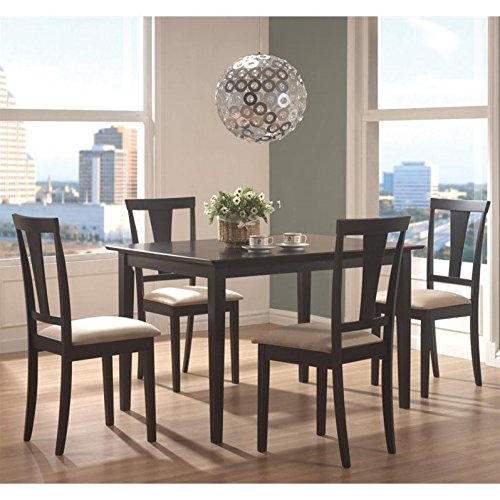coaster-5pc-casual-dining-table-and-chairs-set-in-black-finish