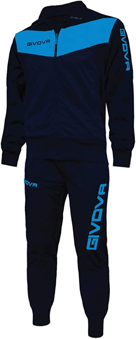 Giosal Completo Tuta Sportiva GIVOVA New Visa Uomo Donna Bambino Unisex Sport Blu//Turchese-L