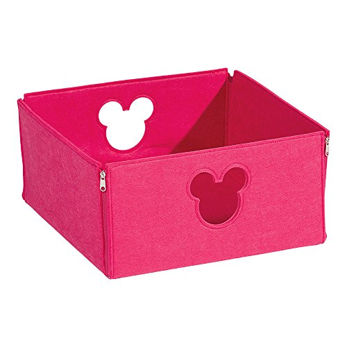 Disney Square Storage - Ethan Allen | Disney Small Fantastic Felt Square Basket, Minnie Pink
