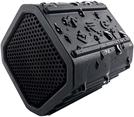 ECOXGEAR Ecopebble Rugged and Waterproof Wireless Bluetooth Speaker – Retail Packaging – Black