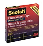 Scotch Preservation Double-Coated Tape 889, 3/4-inch x 36 Yards, Roll