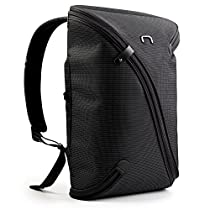 436583ac8215 NIID-UNO I Water Repellent Slim Laptop Backpack Grey with USB Charging Port Fits  Up to 15.6 inch