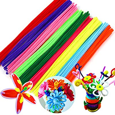 100 Pieces Pipe Cleaners 10 Colors Chenille Stems for DIY Art Creative Crafts Decorations, Kids Crafting Supplies, Twisting Plush Sticks, Neon Fuzzy Sticks, Assorted Colors - 6 mm x 12 Inch (1 Set): Arts, Crafts & Sewing