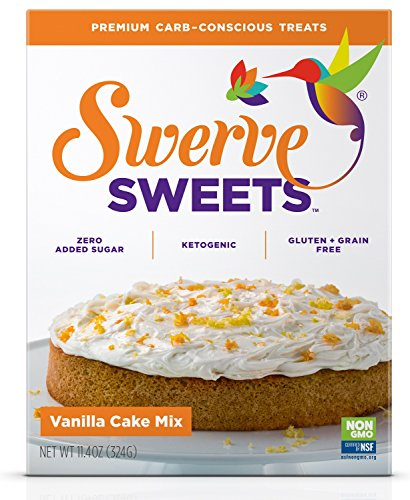 - Swerve Sweets, Vanilla Cake Mix, 11.4 ounces
