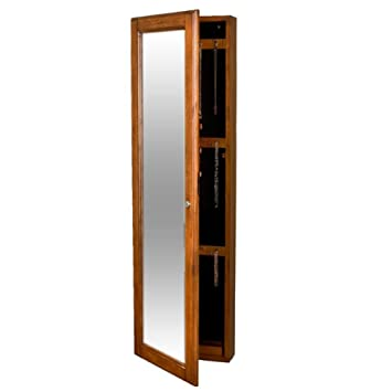 Alcott Hill Endrews Wall Mounted Curio / Jewelry Armoire With Mirror, Wall  Mount Jewelry