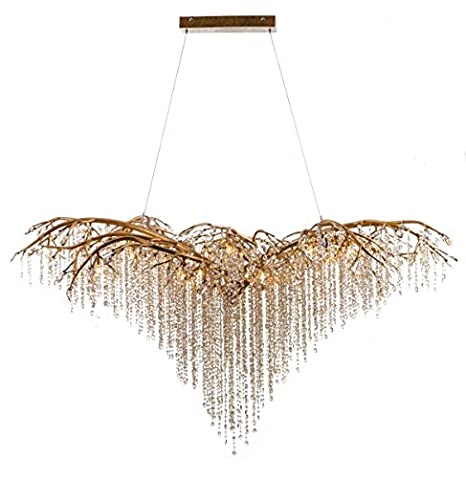 Gold branch chandelier with champagne crystal beaded drops and gold branch chandelier with champagne crystal beaded drops and crystal branches 26g415 aloadofball Image collections