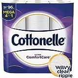 Cottonelle Ultra ComfortCare Toilet Paper, Soft Bath Tissue, Septic-Safe, 24 Mega Rolls