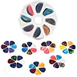 55 Pack Guitar Picks, Tifanso Colorful Guitar Plectrums Gift For Bass, Electric & Acoustic Guitars, Ukulele - Includes Thin 0.46mm, Medium 0.71mm, Heavy 0.96mm with Pick Box