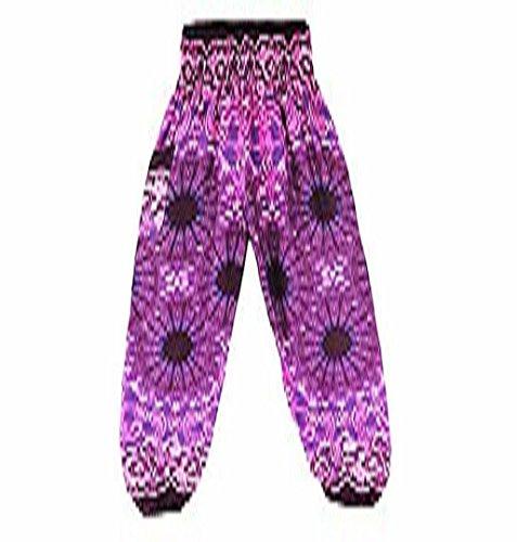 ZEZKT☀Thai Harem Yoga Leggings Hose Printed Loose Hosen für Laufen Workout | Leggings Strumpfhose Athletische Gymnastik Sporthose Kompression Sport Lang Hosen Pants Blickdichte Hot Pink