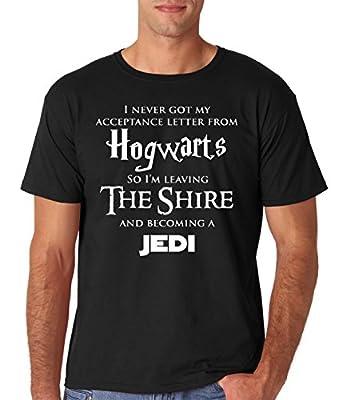 AW Fashion's Hogwarts Harry Potter Star Wars Jedi Inspired Funny Slogan Premium Men's T-Shirt