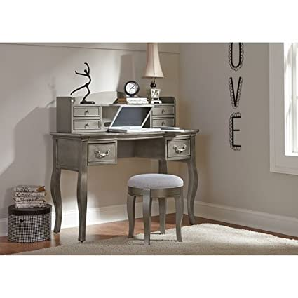 NE Kids Kensington Writing Desk with Hutch in Antique Silver - Amazon.com: NE Kids Kensington Writing Desk With Hutch In Antique