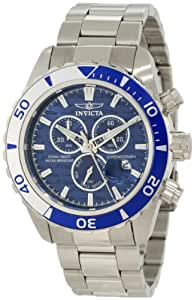 Invicta Pro Diver Mens Silver Stainless Steel Chronograph Day & Date Watch 12445