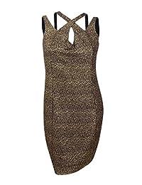 City Chic Womens Plus Metallic Strappy Cocktail Dress