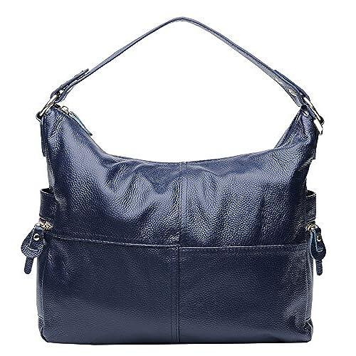 Heshe Soft Leather Women s Handbags Large Capacity Shoulder Bags Hobo Tote  Top Handle Cross Body Bag 067ff3e343334