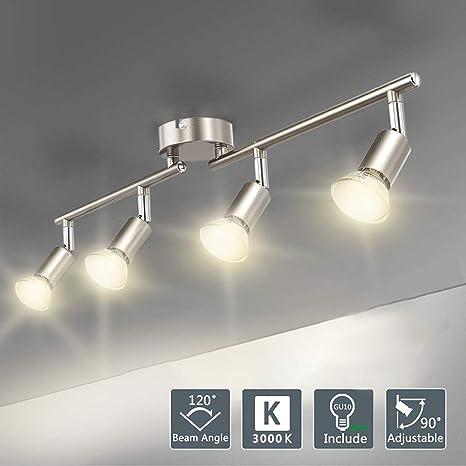 W de Lite - Lámpara de techo GU10, LED de techo Spot, 4 ...