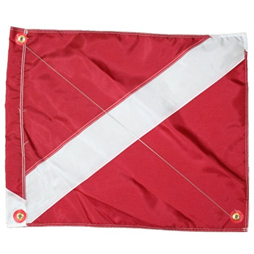 nylon-diver-down-flag-with-brass-grommets-steel-spring-wire-stiffener-boat-float-flag-31-x-36-red-wh