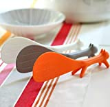 AKOAK 3 Piece Creative Household Kitchen Tools,Lovely Squirrel Shape Standing Spoon Non-stick Rice Spoon Fashion Rice Cooker Dishes Filled Scoop Shovel