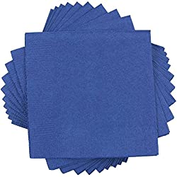 "JAM Paper Medium Lunch Napkins - 6 1/2"" x 6 1/2"" - Blue - 50/Pack"