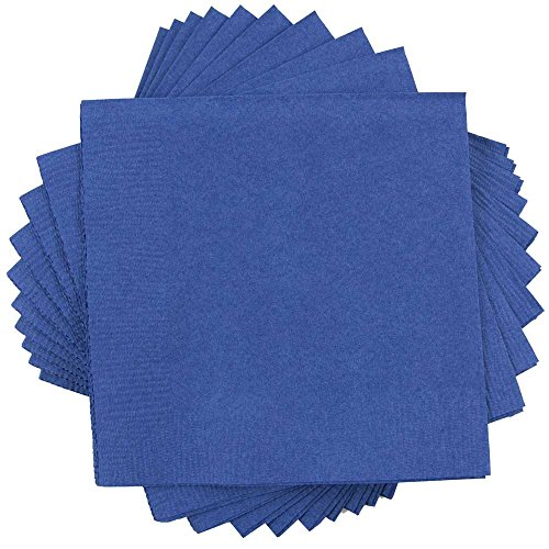 Blue Appetizer (JAM Paper Small Beverage Napkins - 5