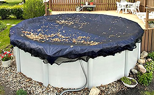 Ultra 27 Ft Round Tight Mesh Cover Above Ground Pool Winter Screen Debris Trap Armor Maxx 3 Foot Overlap 8 Year Warranty