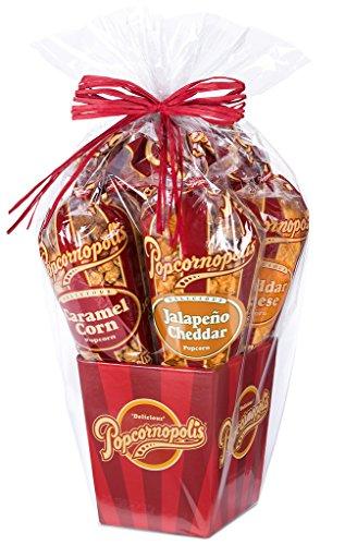 (Popcornopolis Gourmet Popcorn 5 cone Gift Basket - Classic)