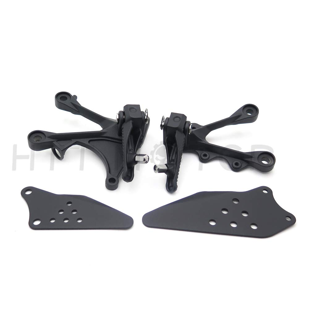Silver Front Rider Foot Pegs Bracket Fit For Kawasaki Zx6R 2005 2006 2007 2008