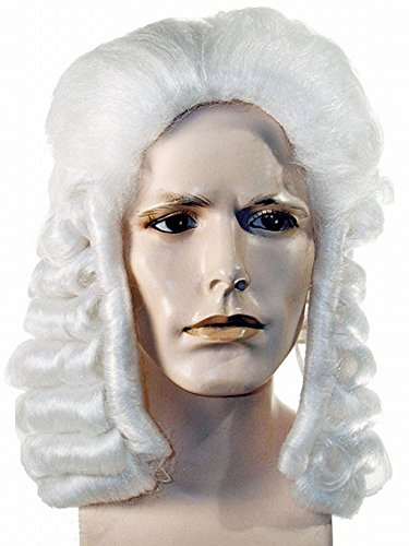 [Benjamin Franklin Dr Johnson Judge Colonial Wig (Medium Brown)] (Ben Franklin Adult Mens Costumes)