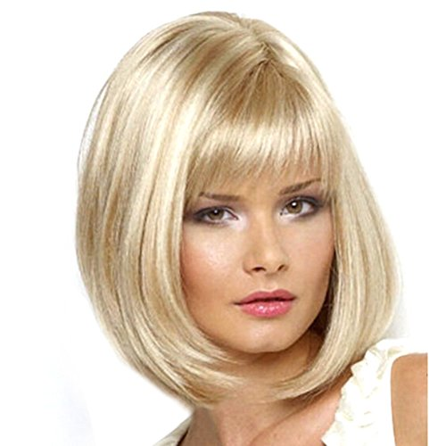 2017 Fashion Sexy Women Girls Short Straight BOB Hair Full Wig Cosplay Party White