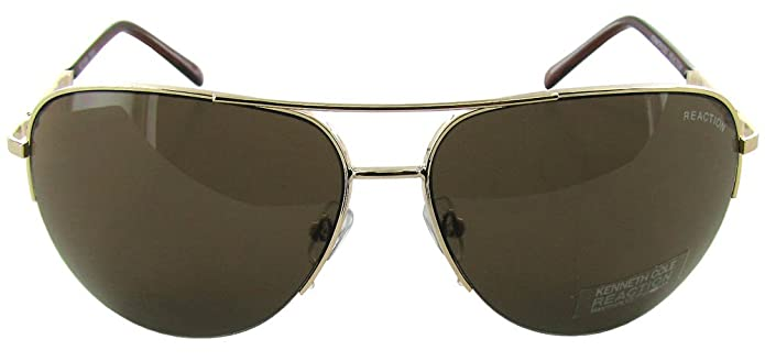 f4cb3c8b9d Amazon.com  Kenneth Cole Reaction Half Rimless Aviator Sunglasses ...