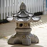 Stone Concrete Double Top Japanese Koi Pagoda Marbella Art [DELIVERY EXCEPTIONS]